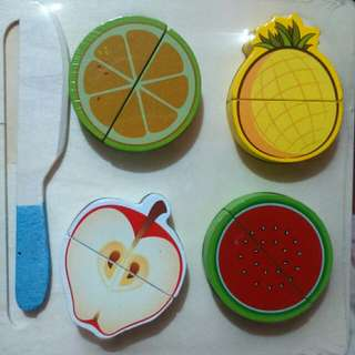 Wooden Cutting Fruits and Vegetables
