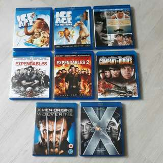 <SOLD> $32 for 8 Original Blu ray Titles Movies