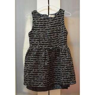 黑白金蔥小洋裝(八成新)(可議)