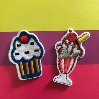 bn cupcake/ice cream iron on patch