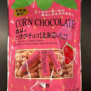 日本草莓粟米朱古力