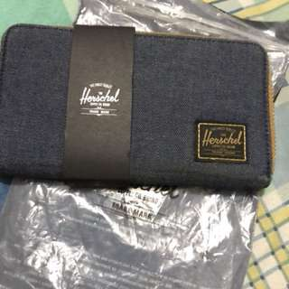 Herschel long denim wallet
