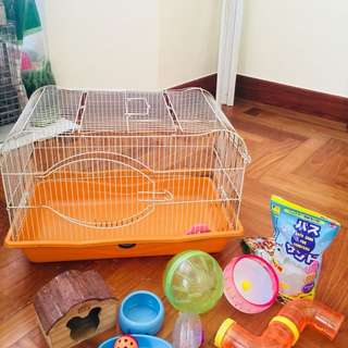 Hamster Cage, accessories and supplies