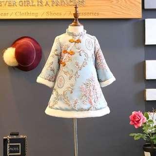 Korea style baby girl Chinese New Year dress