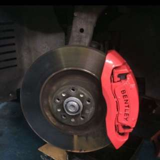 Spray your brake caliper
