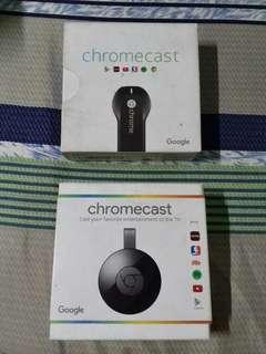 Chromecast Version 1 and 2