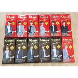 Preorder Ghana x Wanna One Individual Packaging Chocolate