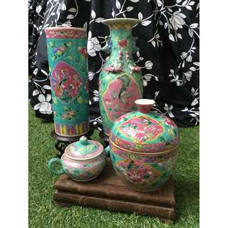 Lot of Nonya Straits Peranakan porcelains