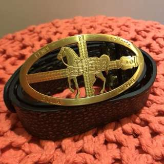 Fendi metallic belt in size 75
