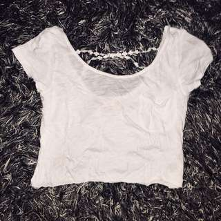 Aeropostale White Crop top