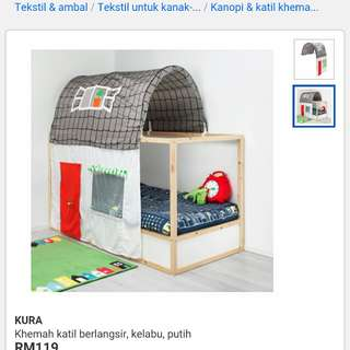 Ikea kids Tent for bed (khemah sahaja)