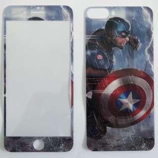 Apple iPhone 8 Plus / iPhone 7 plus卡通圖案 防爆鋼化玻璃mon貼