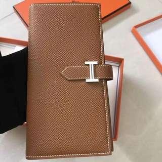 Hermes Bearn gold color GHW 金釦epsom長銀包 wallet