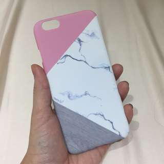Casing iPhone 6/6s Marble x Pink x Grey