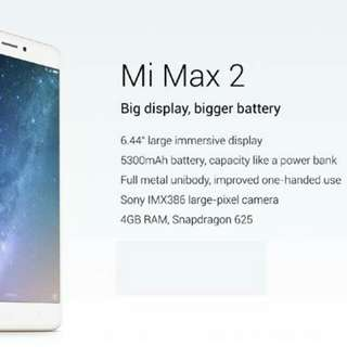 (Xiaomi 小米) Mi Max 2, 4+64G, Champagne gold, Global Version. Parallel Import.