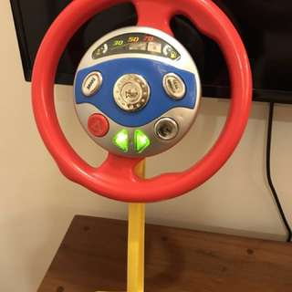 Car Wheel that spins with real sound and lights