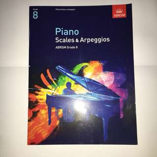 NEW ABRSM GRADE 8 PIANO SCALES BOOK