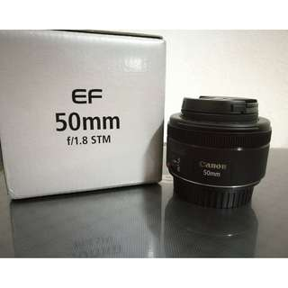 Canon EF 50mm f 1.8 stm (Like new!)