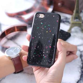 For IPHONE 5 5S SE 6 6S 7 7+ 8 8+ - GALAXY BLACK CASE