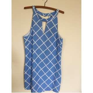 NWT Indikah Size 8 sky blue dress