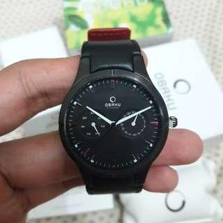 Jam tangan pria merk Obaku denmark