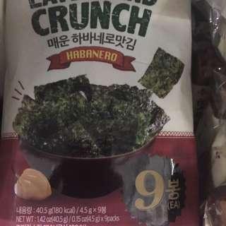 Seaweed crunch   9packs inside!!
