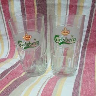 Carlsberg glass mup 2pcs in set