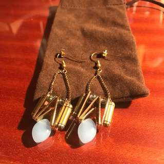 A Pair of Blue Stone Earrings from Harvey Nichols