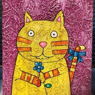 Cat Canvas Painting 8 x 10