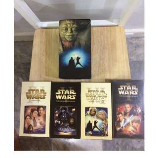 Vintage Star Wars Trilogy & Phantom Menace VHS tapes (2000 release)