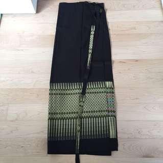 Brand New Thai silk overlap long skirt