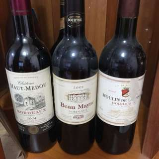 Self collection red wines