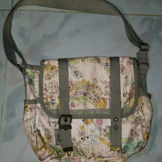 The Kate Sutton x LeSportsac Two Pocket Messenger Bag in Garden Pals by LeSportsac