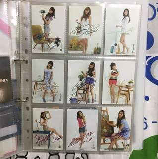 少女時代 snsd Girls' Generation star collection card 簽名卡