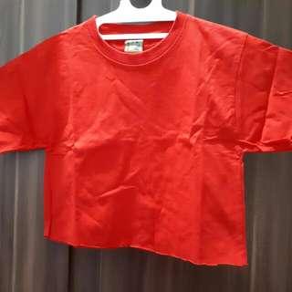 Crop Shirt Red