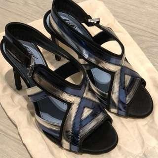 Lanvin女裝metallic blue高跟鞋👠
