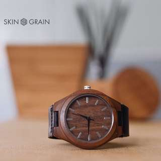 Wood Watch with FREE Engraving & Customisable Box & Strap