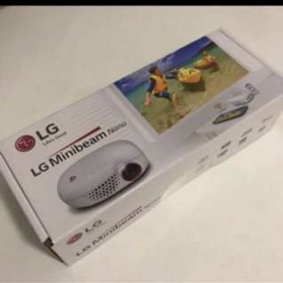 Projector LG Battery Embedded 100 Lumens Pico Projector PV150G Brand New!  1 yr Warranty from October 12,  2016 Brand new! Original price $599