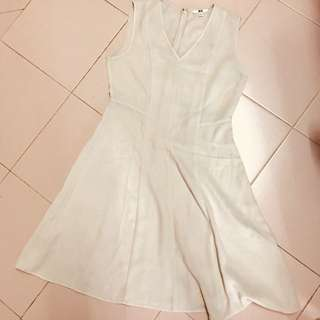 Uniqlo Beige Sleeveless Dress