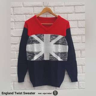 HR - 0118 - Outwear Jaket atau Sweater Rajut England Twist