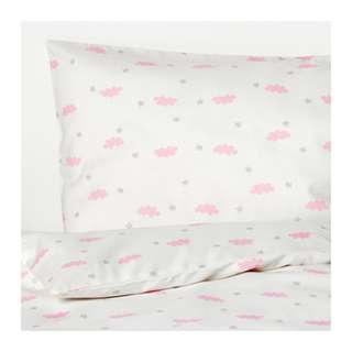 [IKEA] HIMMELSK 3-piece bedlinen set for cot, pink