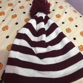 Red Striped Beanie [REPRICED]