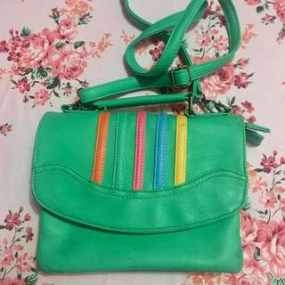 Green sling-bag