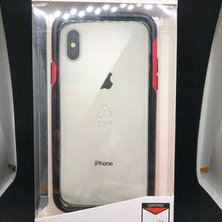 Patchwork red bumper for iphone X