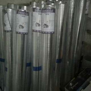 (SHINE FOIL) ALUMUNIUM FOIL METALIZING WOVEN DOUBLE SIDE