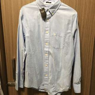 Abercrombie & Fitch A and F 藍色 oxford 全新