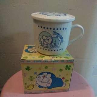 Doraemon 有蓋瓷杯