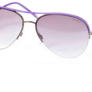 Authentic Liz Claiborne Aviator Type Sunglasses Brown/Purple