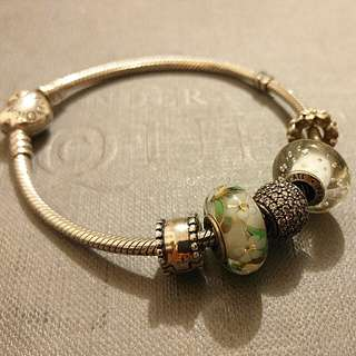 Pandora bracelet (19cm) with 5 charms