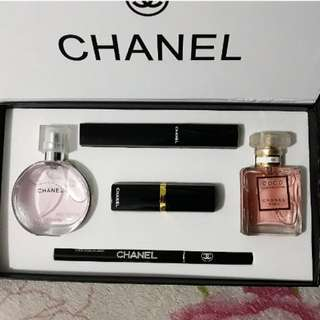 Chanel set (perfume and make up set with box) REPRICED!!!